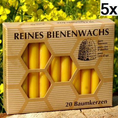 100% Bienenwachs Baumkerzen (100 Stk.) Christbaumkerzen GP:4,79 € pro 1 Pckg.