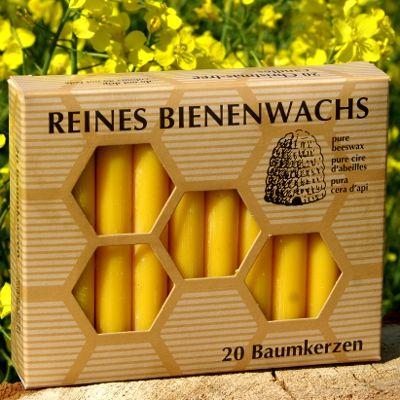 100% Bienenwachs Baumkerzen (20 Stk.) Christbaumkerzen GP:5,39 € pro 1 Pckg.