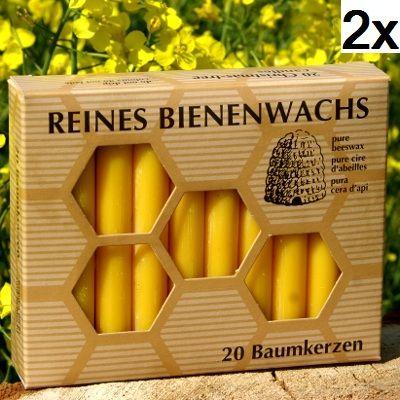 100% Bienenwachs Baumkerzen (40 Stk.) Christbaumkerzen GP:4,97 € pro 1 Pckg.