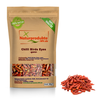 Chili Birds Eyes 2-3cm, extra scharf (500g)